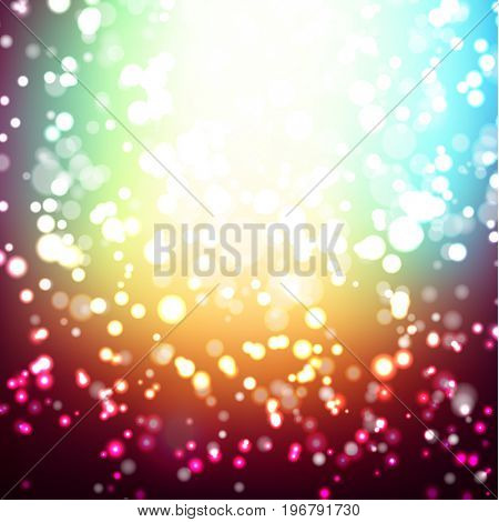 Abstract colorful background with multiple light sparkles - raster version