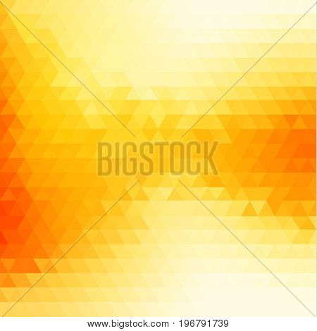 Abstract yellow background with triangular pattern flowing waves - - raster version