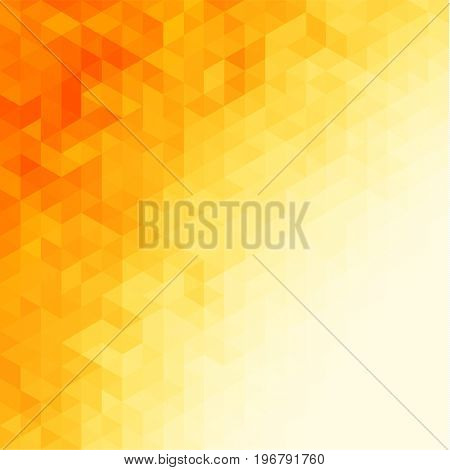 Abstract vibrant yellow background with geometric triangular pattern - raster version