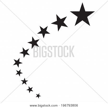 star icon. star design. stars abstract on white background..