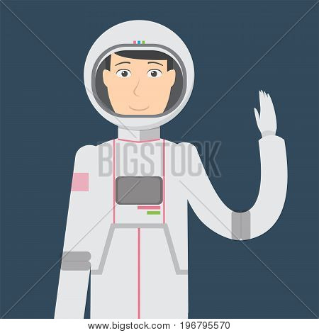 Astronout Character Male | set of vector character illustration use for human, profession, business, marketing and much more.The set can be used for several purposes like: websites, print templates, presentation templates, and promotional materials.