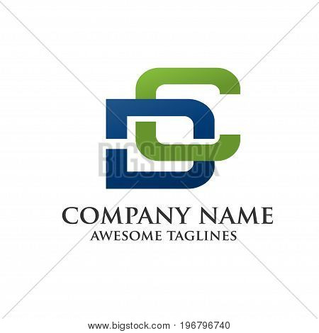 letter D and C , letter C letter D, letter CD, letter DC logo business and sport vector