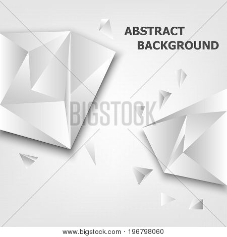 Triangle 3D polygon abstract background, stock vector