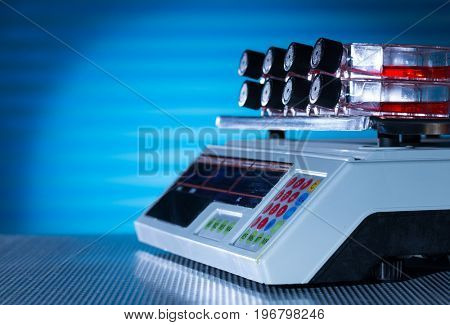 Laboratory shaker with cuvettes containers for cultivation of Stem cells biocultures