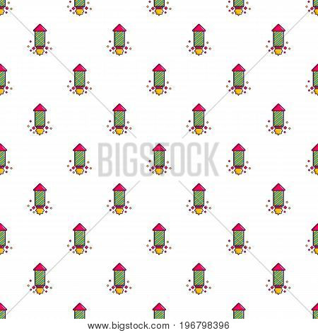 Party popper pattern seamless repeat in cartoon style vector illustration