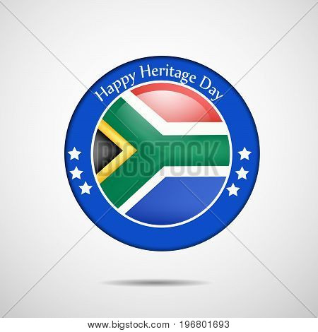 illustration of stamp in south Africa flag background with Happy Heritage Day text on the occasion of Heritage Day