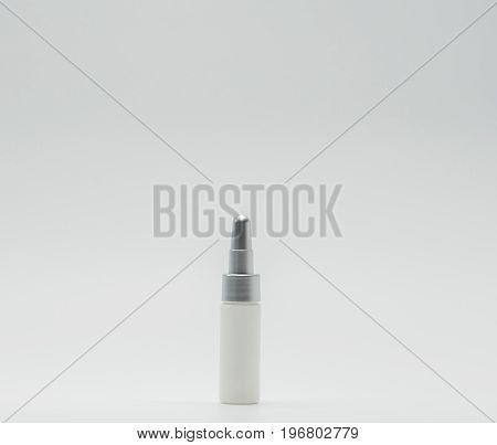 Plastic bottle with good design of medicated skincare serum isolated on white background