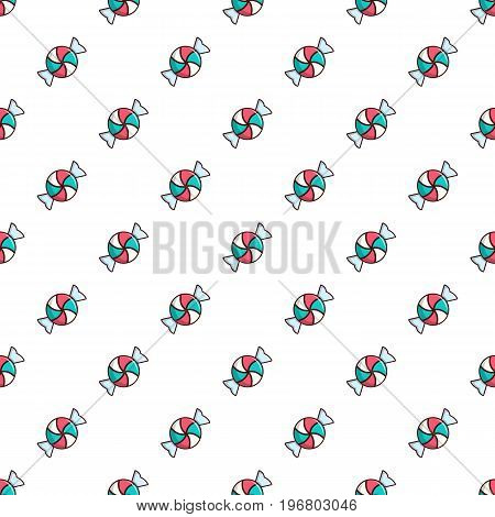 Candy pattern seamless repeat in cartoon style vector illustration