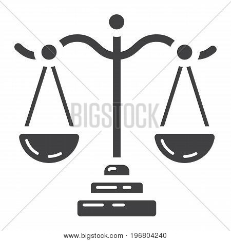 Libra glyph icon, business and finance, scale sign vector graphics, a solid pattern on a white background, eps 10.