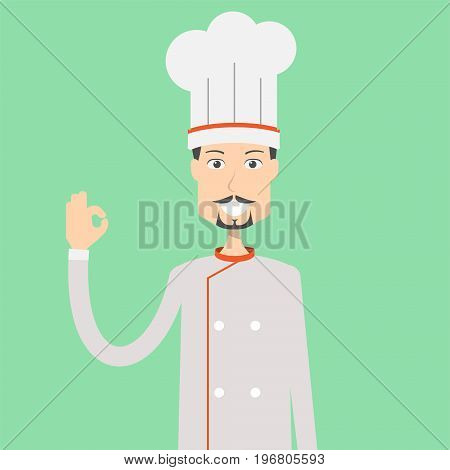 Chef Character Male | set of vector character illustration use for human, profession, business, marketing and much more.The set can be used for several purposes like: websites, print templates, presentation templates, and promotional materials.