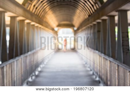 Tunnel of the overpassSafe pathway for people crossing the road
