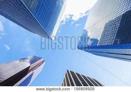 Calgary - skyscrapers in the city center. Calgary Alberta Canada.