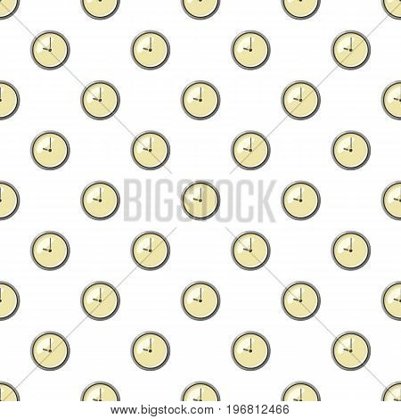 Clock pattern seamless repeat in cartoon style vector illustration