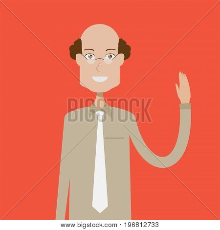 College Teacher Character Male | set of vector character illustration use for human, profession, business, marketing and much more.The set can be used for several purposes like: websites, print templates, presentation templates, and promotional materials.