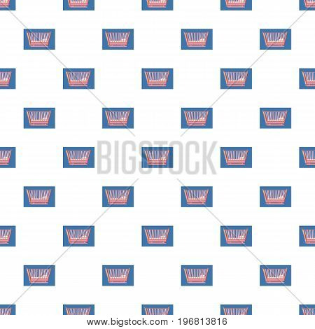 Baby bed pattern seamless repeat in cartoon style vector illustration
