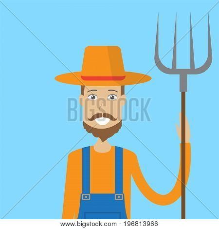 Farmer Character Male | set of vector character illustration use for human, profession, business, marketing and much more.The set can be used for several purposes like: websites, print templates, presentation templates, and promotional materials.