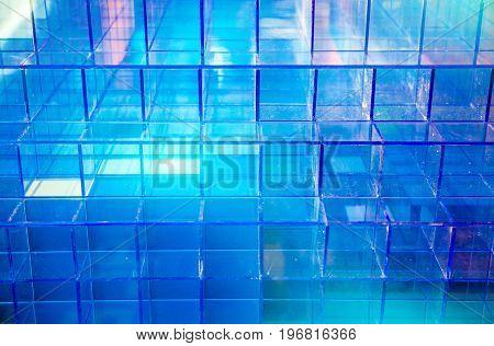 Plastic Blue Cubic
