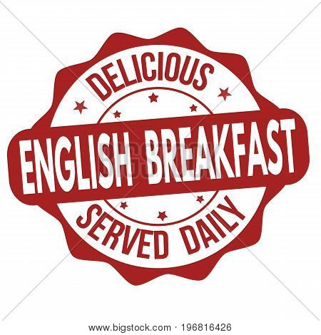 English Breakfast Sign Or Stamp