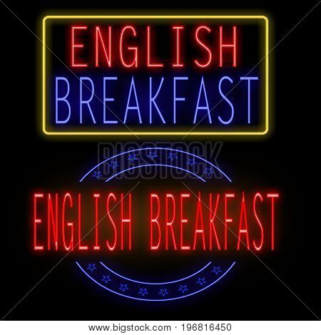 English Breakfast Glowing Neon Sign