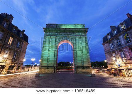 Porte de Bourgogne in Bordeaux. Bordeaux Nouvelle-Aquitaine France.