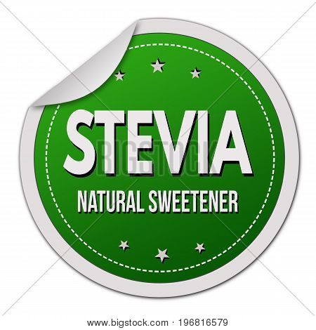 Stevia Label Or Sticker