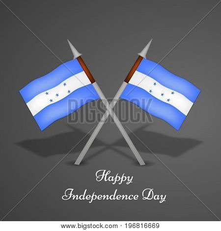 illustration of Honduras flags with Happy Independence day text on the occasion of Honduras Independence Day