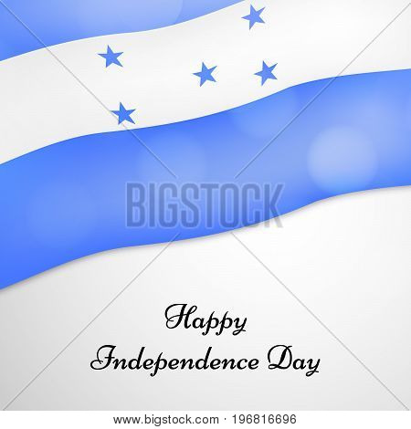 illustration of Honduras flag background with Happy Independence day text on the occasion of Honduras Independence Day