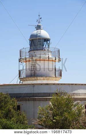 Oropesa del Mar Lighthouse. Oropesa del Mar Valencian Community Spain.