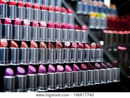Shade Of Lipstick On Shelf