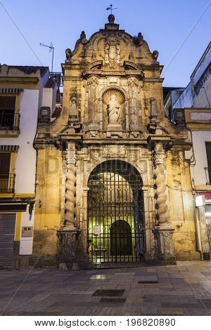Church of San Pablo in Cordoba. Cordoba Andalusia Spain.