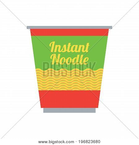 instant noodles in cup packaging. vector illustration