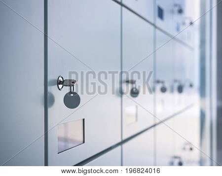 Lockers with key in Locker Room Public facility