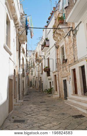 Characteristic alleyway of Putignano. Puglia. Southern Italy.