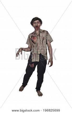Creepy Asian Zombie Male In Clothes