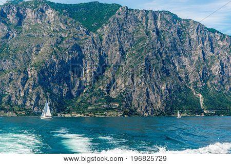 Beautiful peaceful lake Garda, Italy.