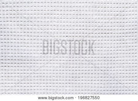 White waffle fabric background cotton pique, high resolution