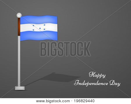 illustration of Honduras flag with Happy Independence day text on the occasion of Honduras Independence Day