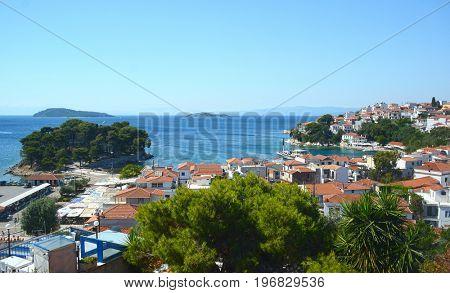 Skiathos town on Skiathos island, Greece