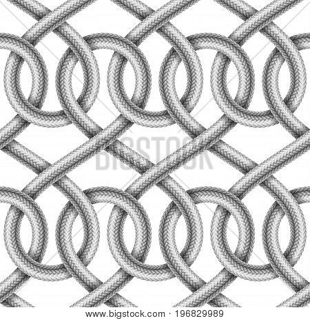 Braided cable vector seamless pattern decorative illustration
