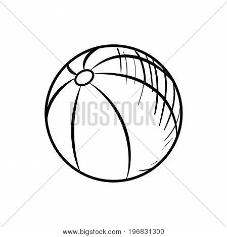 Sketch Baby Beach ball. Hand drawn Ball icon. Ball sketch icon for infographic, website or app.