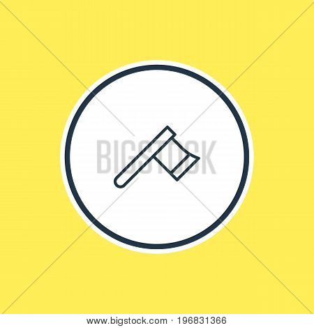 Beautiful Structure Element Also Can Be Used As Hatchet Element.  Vector Illustration Of Axe Outline.