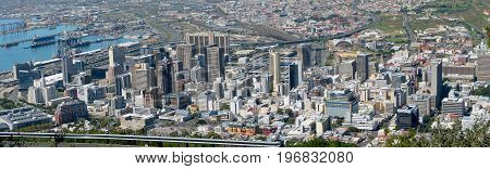 AN AERIAL VIEW OF CAPE TOWN CITY, SOUTH AFRICA 22oj