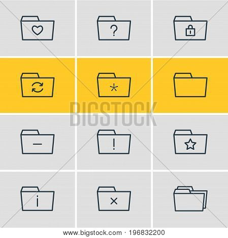 Editable Pack Of Remove, Pinned, Minus And Other Elements.  Vector Illustration Of 12 Document Icons.