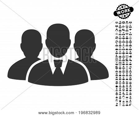 User Group icon with black bonus profession icon set. User Group vector illustration style is a flat gray iconic element for web design app user interfaces.