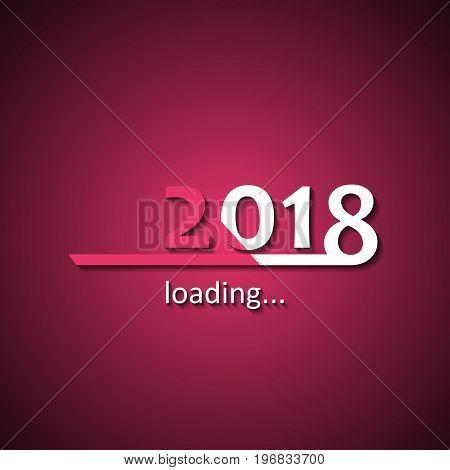 Loading 2018 inscription bar - flat design template, pink edition