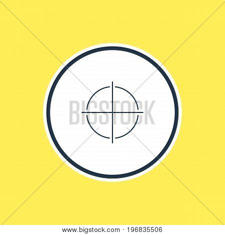 Beautiful UI Element Also Can Be Used As Positive Element.  Vector Illustration Of Focus Outline.