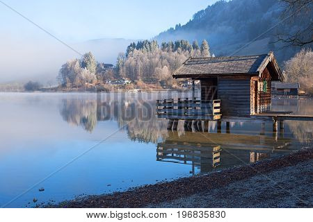 Foggy Morning At Lake Schliersee, Upper Bavaria