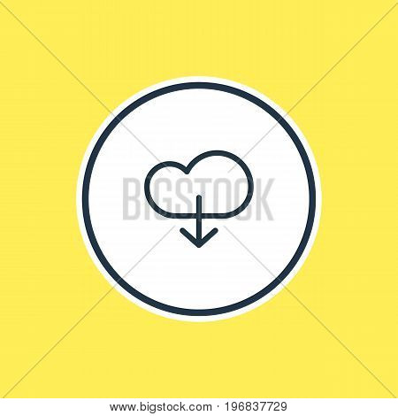 Beautiful Storage Element Also Can Be Used As Cloud Element.  Vector Illustration Of Download Outline.