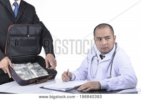 Doctor Signed Agreed Reluctantly To A Business Agreement.
