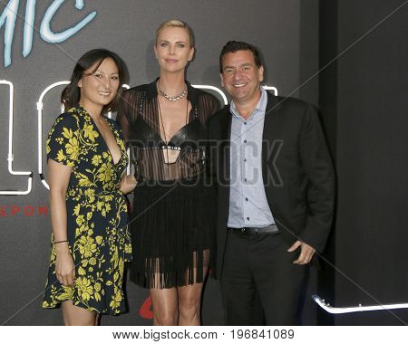 LOS ANGELES - JUL 24:  Beth Kono, Charlize Theron, AJ Dix at the